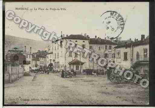Ville de MASSIAC Carte postale ancienne