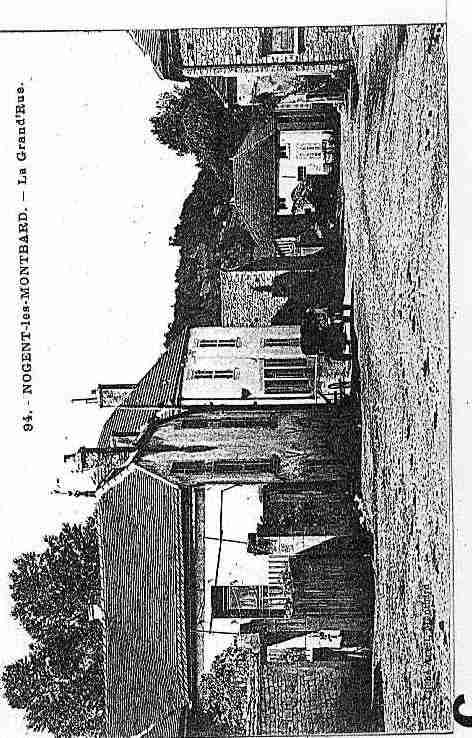 Ville de NOGENTLESMONTBARD Carte postale ancienne