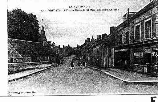 Ville de PONTD\'OUILLY Carte postale ancienne