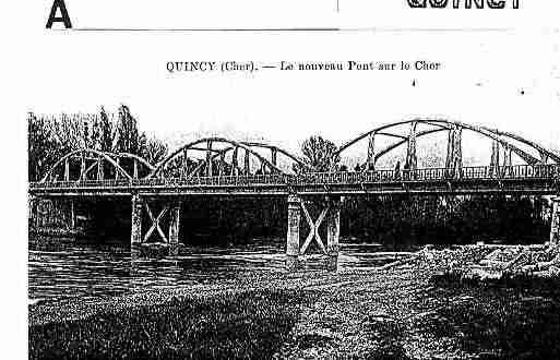 Ville de QUINCY Carte postale ancienne