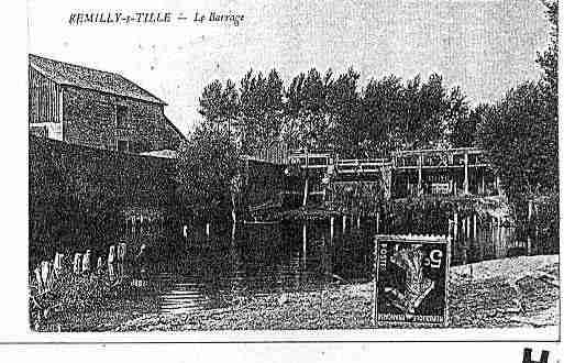Ville de REMILLYSURTILLE Carte postale ancienne