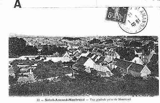 Ville de SAINTAMANDMONTROND Carte postale ancienne