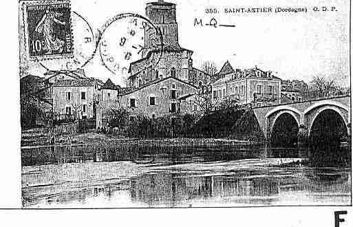 Ville de SAINTASTIER Carte postale ancienne