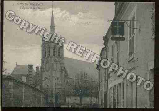 Ville de SAINTESOLANGE Carte postale ancienne