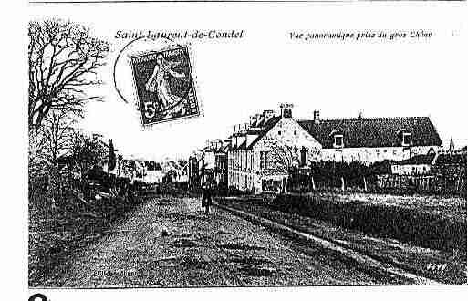 Ville de SAINTLAURENTDECONDEL Carte postale ancienne
