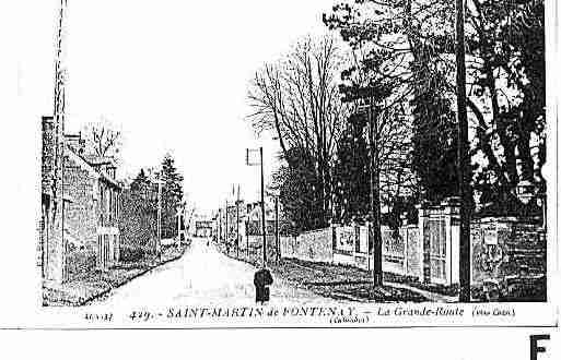 Ville de SAINTMARTINDEFONTENAY Carte postale ancienne