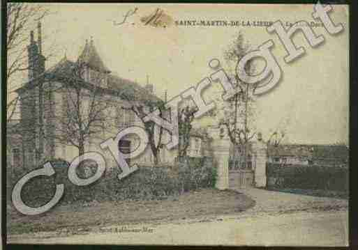 Ville de SAINTMARTINDELALIEUE Carte postale ancienne