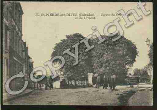 Ville de SAINTPIERRESURDIVES Carte postale ancienne