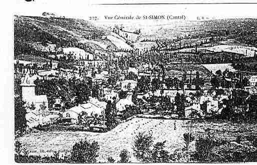 Ville de SAINTSIMON Carte postale ancienne