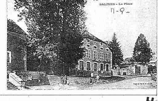 Ville de SALIVES Carte postale ancienne