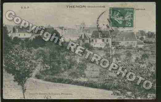 Ville de THENON Carte postale ancienne