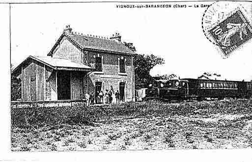 Ville de VIGNOUXSURBARANGEON Carte postale ancienne