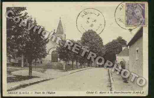 Ville de ABILLY Carte postale ancienne
