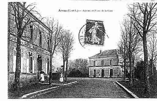 Ville de ARROU Carte postale ancienne