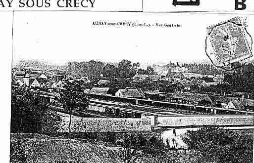 Ville de AUNAYSOUSCRECY Carte postale ancienne