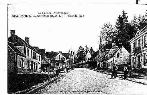Ville de BEAUMONTLESAUTELS Carte postale ancienne