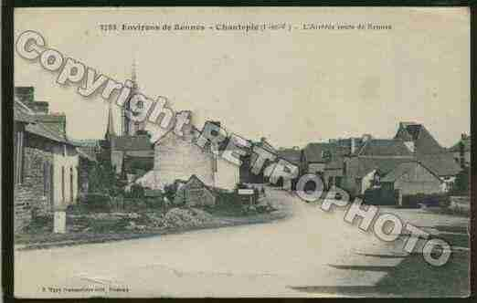 Ville de CHANTEPIE Carte postale ancienne