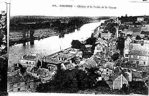 Ville de CHINON Carte postale ancienne