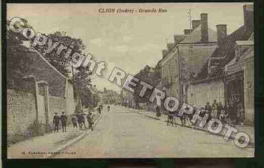 Ville de CLION Carte postale ancienne