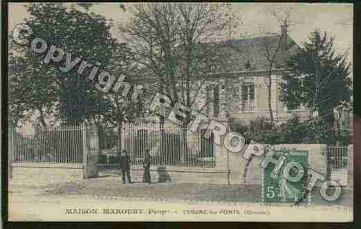 Ville de CUBZACLESPONTS Carte postale ancienne
