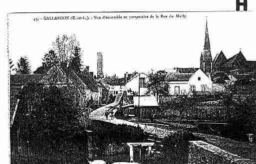 Ville de GALLARDON Carte postale ancienne