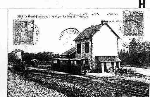 Ville de GRANDFOUGERAY Carte postale ancienne