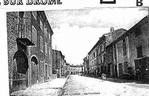 Ville de LORIOLSURDROME Carte postale ancienne