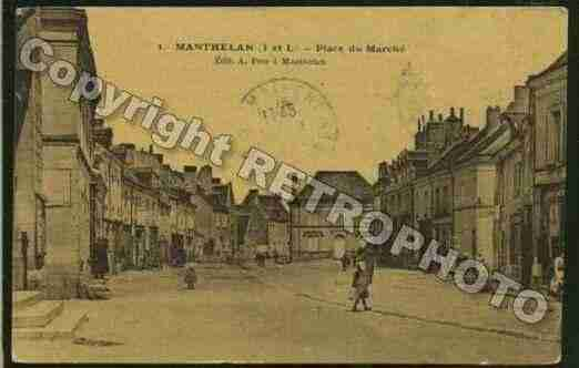 Ville de MANTHELAN Carte postale ancienne