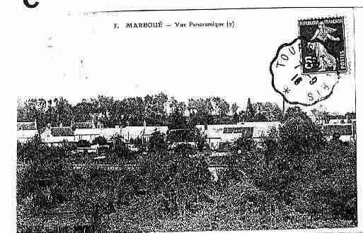 Ville de MARBOUE Carte postale ancienne