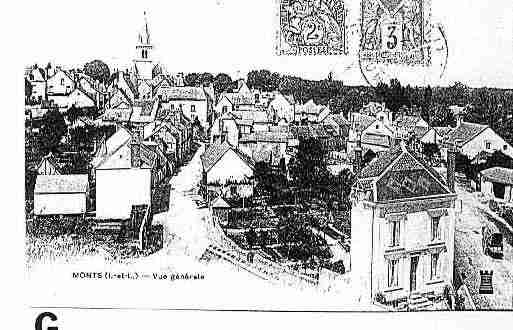 Ville de MONTS Carte postale ancienne