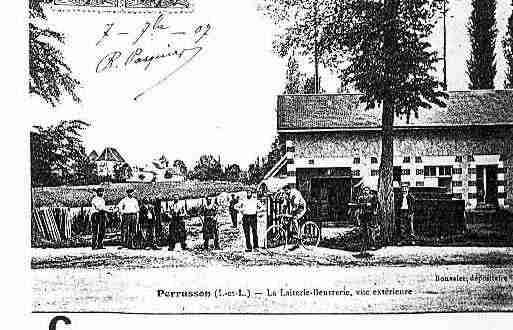 Ville de PERRUSSON Carte postale ancienne