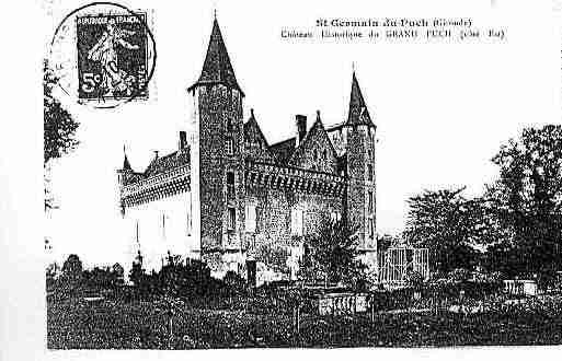 Ville de SAINTGERMAINDUPUCH Carte postale ancienne