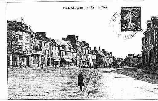 Ville de SAINTMEENLEGRAND Carte postale ancienne