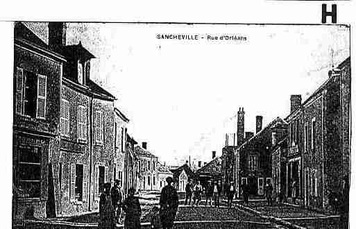 Ville de SANCHEVILLE Carte postale ancienne