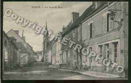 Ville de SOUGE Carte postale ancienne