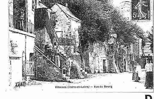 Ville de VILLAINESLESROCHERS Carte postale ancienne