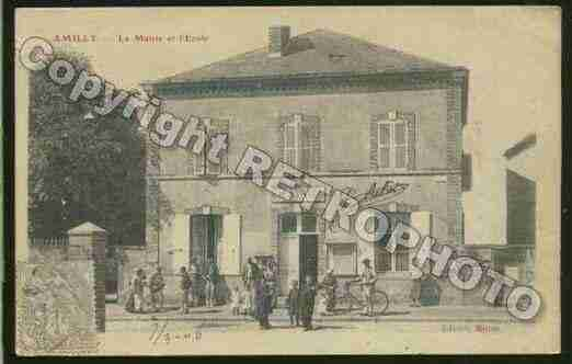 Ville de AMILLY Carte postale ancienne