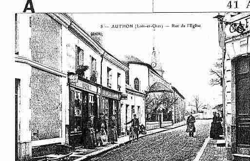 Ville de AUTHON Carte postale ancienne