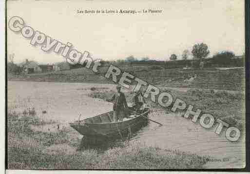 Ville de AVARAY Carte postale ancienne