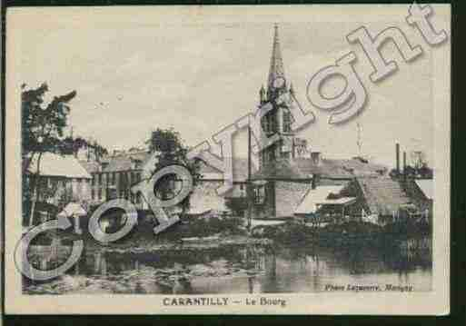 Ville de CARANTILLY Carte postale ancienne