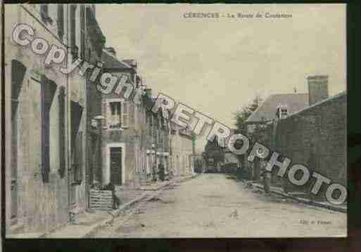Ville de CERENCES Carte postale ancienne