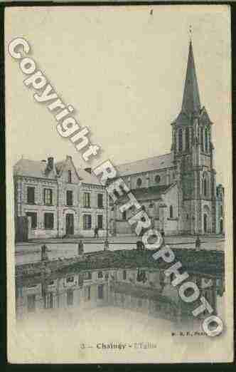 Ville de CHAINGY Carte postale ancienne