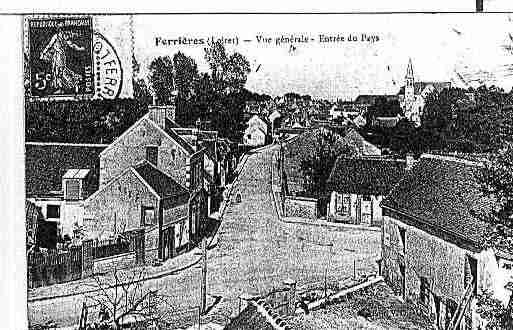 Ville de FERRIERES Carte postale ancienne