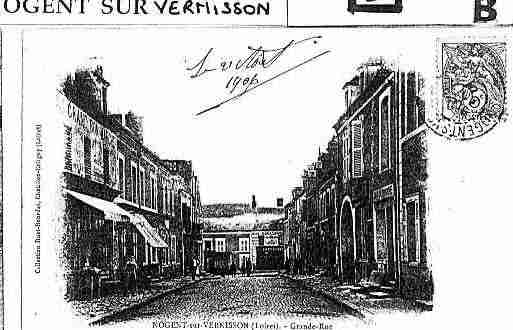 Ville de NOGENTSURVERNISSON Carte postale ancienne