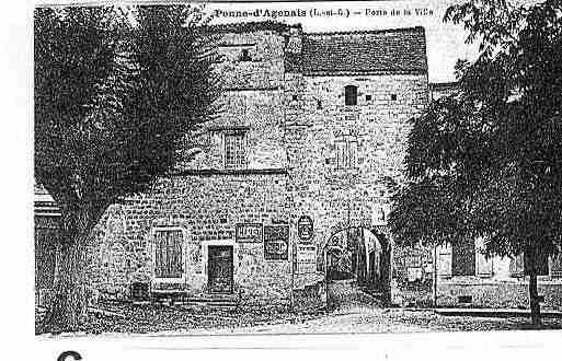 Ville de PENNED\'AGENAIS Carte postale ancienne