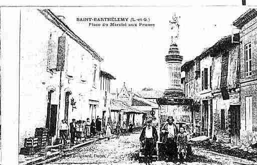 Ville de SAINTBARTHELEMYD\'AGENAIS Carte postale ancienne