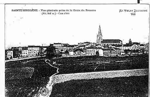 Ville de SAINTESIGOLENE Carte postale ancienne