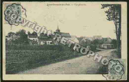 Ville de SAINTGERMAINDESPRES Carte postale ancienne