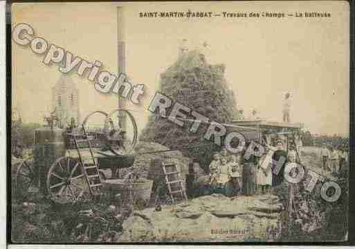 Ville de SAINTMARTIND\'ABBAT Carte postale ancienne
