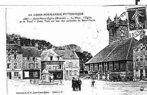 Ville de SAINTPIERREEGLISE Carte postale ancienne